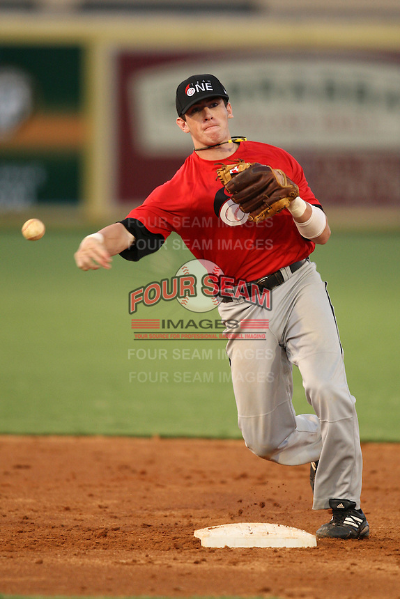 Shortstop/Second Baseman Mikey (Mike) White (15) of Spain Park High School, committed to Alabama, participates in the Team One Futures Game East at Roger Dean Stadium in Jupiter, Florida September 25, 2010..  Photo By Mike Janes/Four Seam Images