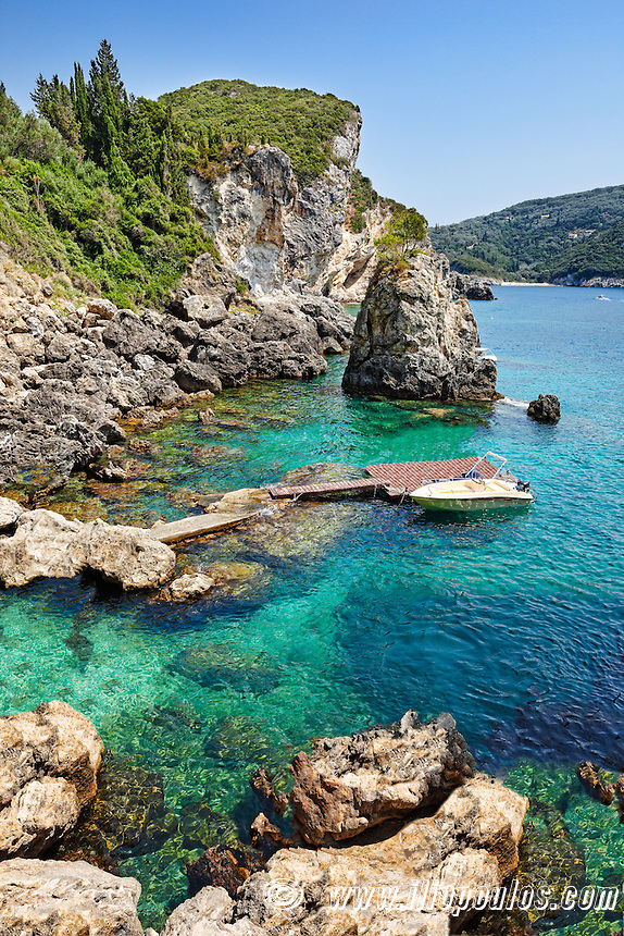 La Grotta Cove at Corfu, Greece