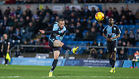 Michael Harriman of Wycombe Wanderers fires a shot at goal during the Sky Bet League 2 match between Wycombe Wanderers and Luton Town at Adams Park, High Wycombe, England on 6 February 2016. Photo by Andy Rowland.
