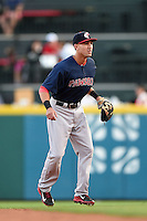 Pawtucket Red Sox second baseman Derrik Gibson (16) during a game against the Buffalo Bisons on August 23, 2014 at Coca-Cola Field in Buffalo, New  York.  Buffalo defeated Pawtucket 15-2.  (Mike Janes/Four Seam Images)