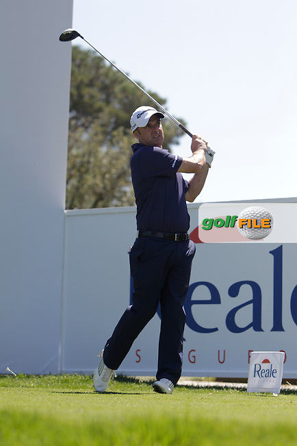 Paul McGinley (IRL) on the 13th tee during the Pro-Am in The Open De Espana at The PGA Catalunya Resort on Wednesday 14th May 2014.<br /> Picture:  Thos Caffrey / www.golffile.ie