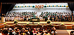WATERBURY CT. 21 June 2017-062117SV06-Graduates sit on stage during the Wilby High Graduation in Waterbury Wednesday.<br /> Steven Valenti Republican-American