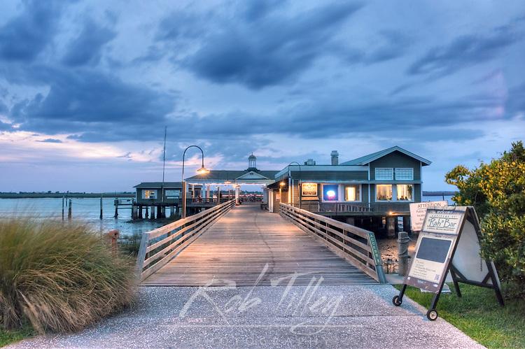 USA, GA, Jekyll Island, The Jekyll Wharf and Latitude 31 Restaurant