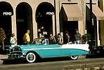 California, Los Angeles: Vintage car on Rodeo Drive in Beverly Hills..Photo: cabeve101..Photo copyright Lee Foster, 510/549-2202, lee@fostertravel.com, www.fostertravel.com..Photo #: cabeve101