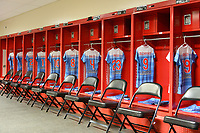 Bridgeview, IL - Saturday May 06, 2017: Chicago Red Stars  jerseys hang in the locker room before a regular season National Women's Soccer League (NWSL) match between the Chicago Red Stars and the Houston Dash at Toyota Park.