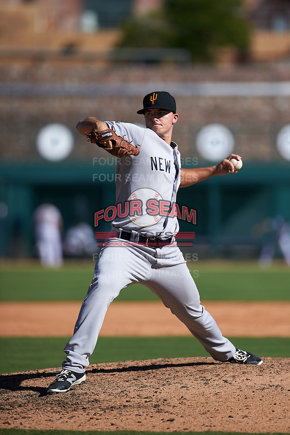 Surprise Saguaros pitcher Ian Clarkin (31) delivers a pitch during an Arizona Fall League game against the Glendale Desert Dogs on October 24, 2015 at Camelback Ranch in Glendale, Arizona.  Surprise defeated Glendale 18-3.  (Mike Janes/Four Seam Images)