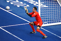 04.09.2012.  London, England. Dan James (GBR) in action during the Men's Football 5-a-side Preliminaries Pool A match between Spain and Argentina during Day 6 of the London Paralympics from the Riverbank Arena