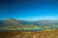 Loch Venachar and Ben Ledi from Ben Gullipen, Loch Lomond and the Trossachs National Park, Stirlingshire