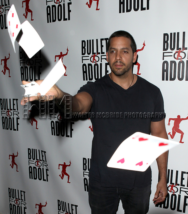 David Blaine attending the Opening Night Performance of 'Bullet For Adolf' at the New World Stages in New York City on 8/8/2012 *   © Walter McBride / WM Photography