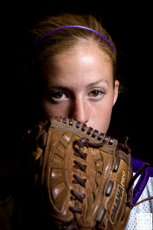 Kendra Woods, a sophomore pitcher for the San Francisco State University softball team, poses for a portrait at the SF State Gymnasium on Monday, September 29, 2008.  (Christopher McGuire)
