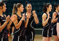 24.10.2015 Silver Ferns Malia Paseka in action during the Silver Ferns training head of their netball test match against the Australian Diamonds in Melbourne. Mandatory Photo Credit ©Michael Bradley.