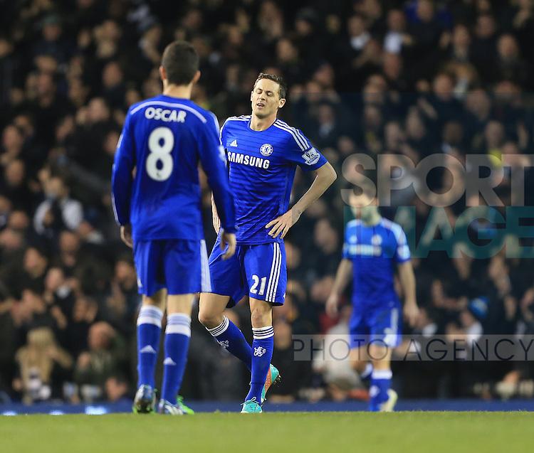 Chelsea's Nemanja Matic looks on dejected after going 3-1 down<br /> <br /> Barclays Premier League - Tottenham Hotspur vs Chelsea - White Hart Lane  - England - 1st January 2015 - Picture David Klein/Sportimage