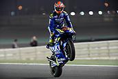 16th March 2018, Losail International Circuit, Lusail, Qatar; Qatar Motorcycle Grand Prix, Friday evening free practice;Alex Rins (Suzuki Ecstar)