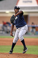 July 24 2008:  Pitcher Santo Mieses of the Oneonta Tigers, Class-A affiliate of the Detroit Tigers, during a game at Dwyer Stadium in Batavia, NY.  Photo by:  Mike Janes/Four Seam Images