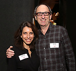 Sarah Stern and David Cale attends The Vineyard Theatre's Emerging Artists Luncheon at The National Arts Club on November 9, 2017 in New York City.