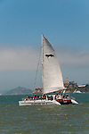 San Francisco: Excursion boat sail boat on San Francisco Bay.  Photo copyright Lee Foster. Photo # casanf104136.