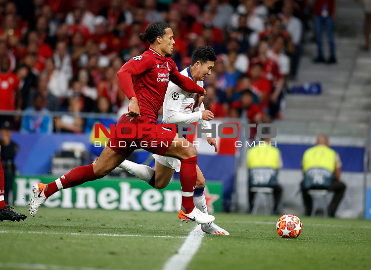 Tottenham Hotspur FC's Heung-Min Son during UEFA Champions League match, Final Roundl between Tottenham Hotspur FC and Liverpool FC at Wanda Metropolitano Stadium in Madrid, Spain. June 01, 2019.(Foto: nordphoto / Alterphoto /Manu R.B.)