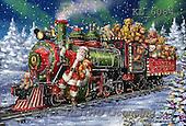 Interlitho, CHRISTMAS SANTA, SNOWMAN, WEIHNACHTSMÄNNER, SCHNEEMÄNNER, PAPÁ NOEL, MUÑECOS DE NIEVE, paintings+++++,santa, train, teddies,KL6084,#X# ,Marcello