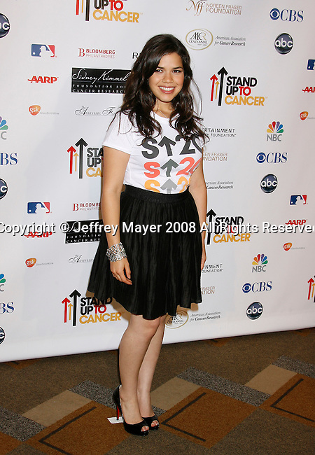 HOLLYWOOD, CA. - September 05: Actress America Ferrera arrives at Stand Up For Cancer at The Kodak Theatre on September 5, 2008 in Hollywood, California.