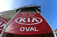 General view of the Kia Oval sign ahead of Surrey vs Essex Eagles, Royal London One-Day Cup Cricket at the Kia Oval on 2nd May 2017