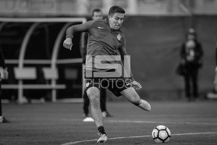 San Jose, CA - March 22, 2017: The USMNT train in preparation for their 2018 FIFA World Cup Qualifying Hexagonal match against Honduras at Avaya Stadium.