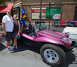 Tim Delany and Lori Mays stand in front of thier1960 Dune Buggy during Hot August Nights Spring Fever in downtown Reno, Nevada on Friday, May 18, 2018.