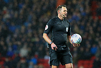 Referee James Linington<br /> <br /> Photographer Alex Dodd/CameraSport<br /> <br /> The EFL Sky Bet Championship - Blackburn Rovers v Preston North End - Saturday 11th January 2020 - Ewood Park - Blackburn<br /> <br /> World Copyright © 2020 CameraSport. All rights reserved. 43 Linden Ave. Countesthorpe. Leicester. England. LE8 5PG - Tel: +44 (0) 116 277 4147 - admin@camerasport.com - www.camerasport.com