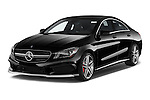 2014 Mercedes Benz CLA Class 45 AMG 4 Door Sedan angular front stock photos of front three quarter view