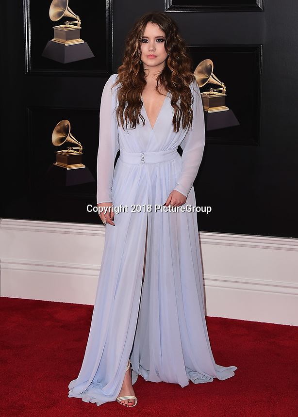 NEW YORK - JANUARY 28:  Taylor Spreitler at the 60th Annual Grammy Awards at Madison Square Garden on January 28, 2018 in New York City. (Photo by Scott Kirkland/PictureGroup)