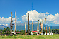Totem poles of the Gitksan people, Kispiox, British Columbia, Canada
