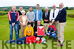 Members of Castleisland Rugby Club with Munster players JJ Hanrahan and Sean McCarthy at their Golf Classic in Castleisland Golf club on Friday evening front row l-r: Charlie Nolan, Dylan O'Sullivan, Brian O'Sullivan, Con O'Sullivan, Back row: Colm Nolan, Shelia Casey, JJ Hanrahan, Sean McCarthy, Michael McElligott, Dan Casey and Bill Horgan