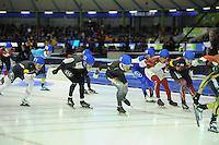SCHAATSEN: HEERENVEEN: 14-12-2014, IJsstadion Thialf, ISU World Cup Speedskating, Mass Start, Haralds Silovs (#6 | LAT), ©foto Martin de Jong
