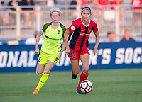 Boyds, MD - June 16, 2018: The Washington Spirit tied the Seattle Reign 0-0 during a National Women's Soccer League (NWSL) match at the Maryland SoccerPlex.