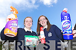 "Aoife Sheehan and Hannah O'Connor, Tralee, students from Presentation Secondary School in Tralee who have a project on ""The dangers of household chemicals to young children"" in the Young Scientist Competition in Dublin."
