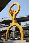 Sebastian urban sculpture Mexico City