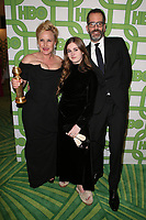 BEVERLY HILLS, CA - JANUARY 6: Patricia Arquette, Harlow Olivia Calliope Jane and Eric White at the HBO Post 2019 Golden Globe Party at Circa 55 in Beverly Hills, California on January 6, 2019. <br /> CAP/MPIFS<br /> ©MPIFS/Capital Pictures