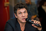 """MARC LAVOINE - EXCLU - Marc Lavoine en promotion pour son livre """"L'homme qui ment""""  à Bruxelles, Belgique, Bruxelles, le 03 février 2015"""