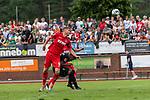 20.07.2019, Heinz Detmar Stadion, Lohne, Interwetten Cup 1. FC Köln vs SV Werder Bremen<br /> <br /> im Bild / picture shows <br /> <br /> Simon Terodde (Koeln 09)<br /> Theodor Gebre Selassie (Werder Bremen #23)<br /> <br /> Foto © nordphoto / Kokenge
