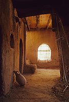 Near Skoura, Morocco - Interior Room and Water Jug, Kasbah Ameridhil.