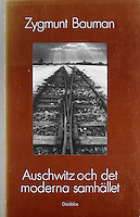 book cover: Modernity and the Holocaust by Zygmunt Baumann, Daidalos publishing house, Sweden, 1989. Photo: Martin Fejer