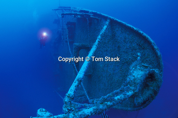 Spiegel Grove shipwreck off Key Largo, Florida...Bow of the largest ship ever intentionally sunk as an artificial reef.