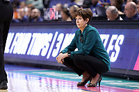 GREENSBORO, NC - MARCH 04: Head coach Muffet McGraw of Notre Dame University during a game between Pitt and Notre Dame at Greensboro Coliseum on March 04, 2020 in Greensboro, North Carolina.