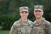 Couple in uniform. model-released, Army portrait