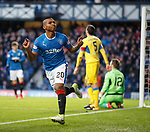 Alfredo Morelos celebrates his opening goal for Rangers