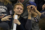 Nevada fans before their NCAA college basketball game against Akron in Reno, Nev., Saturday, Dec. 22, 2018. (AP Photo/Tom R. Smedes)