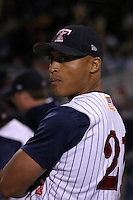 August 31, 2003:  Jhonny Perez of the Toledo Mudhens during a game at Fifth Third Field in Toledo, Ohio.  Photo by:  Mike Janes/Four Seam Images