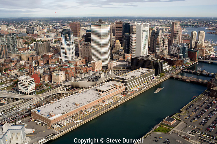 aerial view,Fort Point Channel,  Boston, MA