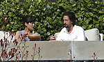 4-12-09 Exclusive.Adrien Brody eating lunch with a new girl in Santa Monica ca ..AbilityFilms@yahoo.com.805-427-3519.www.AbilityFilms.com.