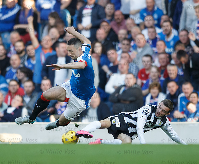 Lee Wallace chopped down by Paul McMullan