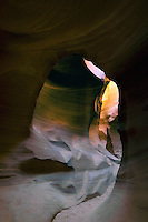 Natural sandstone arch cavern in Lower Antelope Canyon near Lake Powell in Page, Arizona,  Navajo Nation Tribal Park